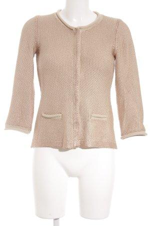 Nice Connection Cárdigan crema-rosa claro Patrón de tejido look efecto mojado