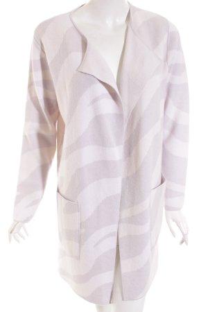 Nice Connection Cardigan grigio chiaro-viola motivo a righe stile casual