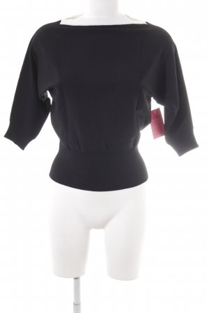 Nice Connection Cropped Shirt schwarz-weiß Casual-Look