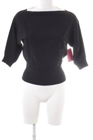 Nice Connection Camisa recortada negro-blanco look casual