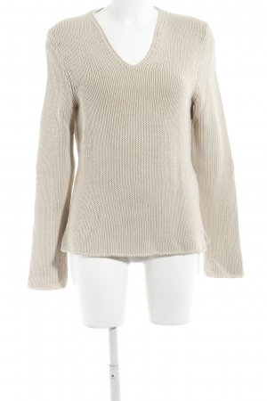 Nice Connection Pullover all'uncinetto sabbia stile casual