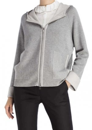 Nice Connection Jacke Sweatjacke Grau Silber Gr. 38 Neu NP 359€