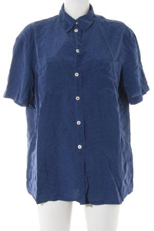 Nice Connection Kurzarm-Bluse blau Casual-Look
