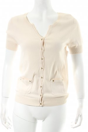 Nice Connection Kurzarmstrickjacke creme Casual-Look