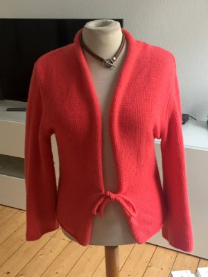 Nice Connection Luxus Cardigan, koralle, Gr 38, 100% Cashmere