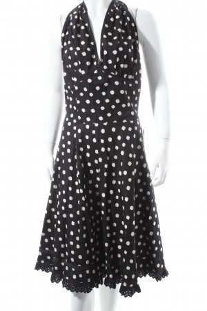 Nice Connection Halter Dress black-natural white spot pattern '20s style
