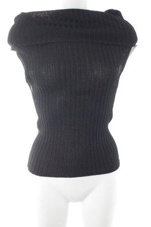 Nice Connection Rollkragenshirt schwarz Streifenmuster Casual-Look
