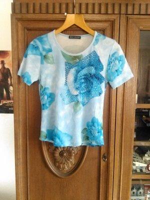 Nice Connection Shirt mit Pailletten-Rosenmotiv