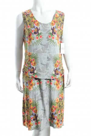 Nice Connection Stretchkleid florales Muster Hippie-Look
