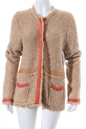 Nice Connection Strickjacke beige Casual-Look