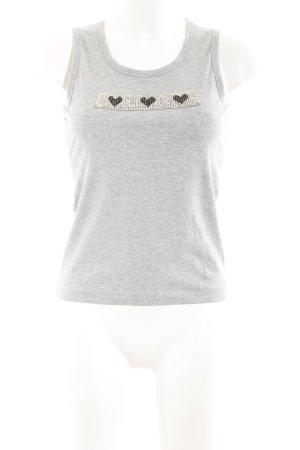 Nice Connection Camiseta sin mangas gris claro estilo sencillo