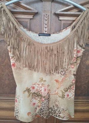 NICE CONNECTION Top Shirt Gr. 38 Lederfransen Westernstyle
