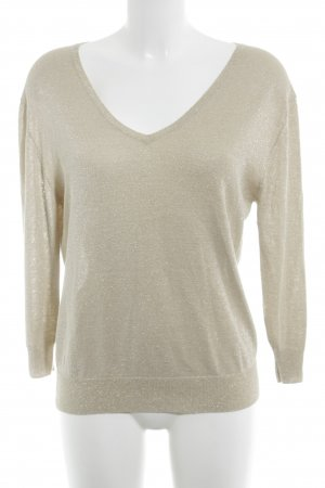 Nice Connection V-Ausschnitt-Pullover creme-goldfarben Casual-Look