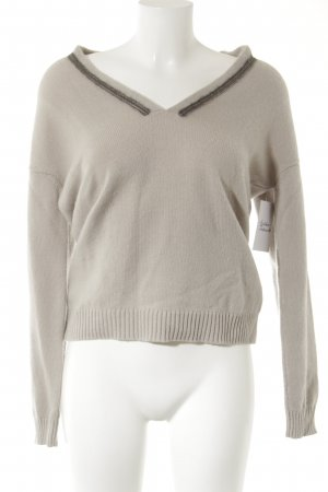 Nice Connection V-Ausschnitt-Pullover hellbeige Casual-Look
