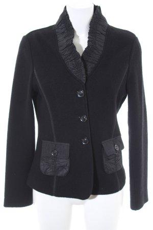 Nice Connection Woll-Blazer schwarz bezogene Knöpfe