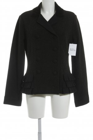 Nice Connection Wolljacke schwarz-grau Business-Look