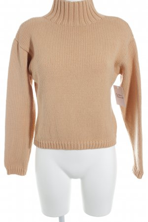 Nice Connection Wollpullover apricot Webmuster Casual-Look
