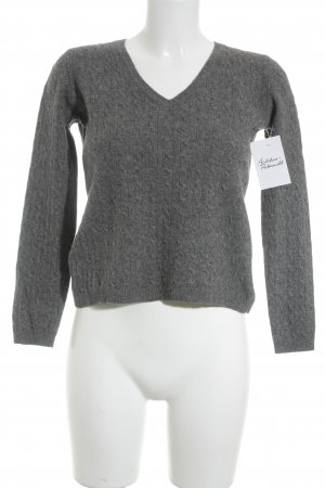 Nice Connection Zopfpullover grau Zopfmuster Casual-Look