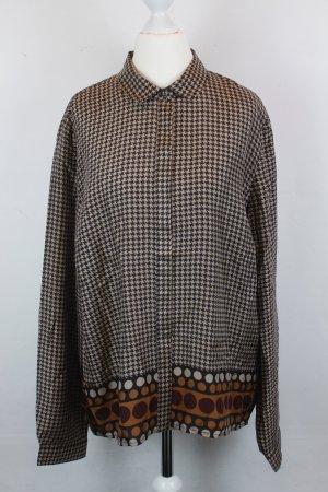 NICE THINGS Bluse Seidenbluse Gr. 44 braun/beige pattern NEU mit Etikett