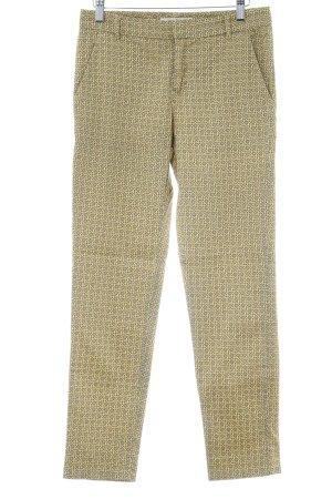 Nice Things Pantalone Capri giallo pallido-ocra stampa integrale