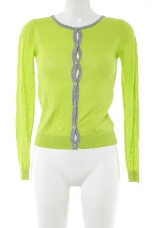 Nice Things Cardigan verde-grigio chiaro stile casual