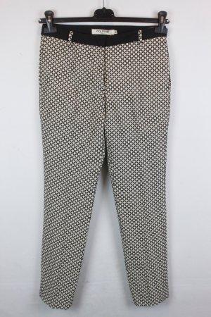 NICE THINGS Hose Stoffhose Gr. 38 schwarz/beige Muster NEU mit Etikett