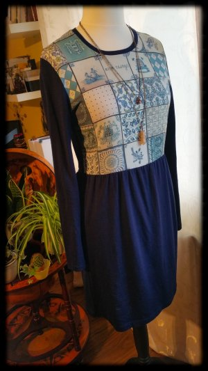 Nice Things Kleid aus Wolle & Alpaca M 38 blau vintage