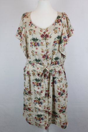 NICE THINGS Kleid Gr. 40 Flower Print NEU mit Etikett (E/MF/SC-2)