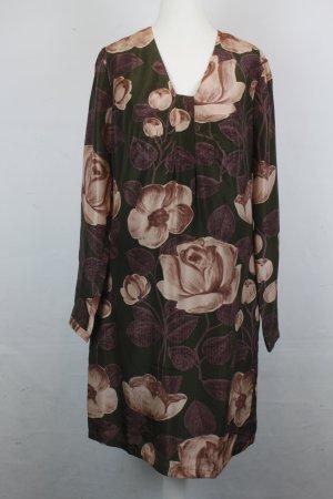 NICE THINGS Kleid Seidenkleid Gr. 38 Flower Print Seide NEU (18/2/482/E/K)