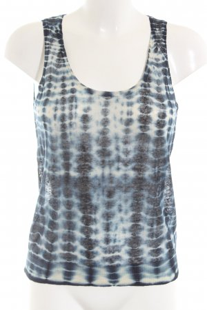 Nice Things Top lavorato a maglia blu-bianco puntinato stile casual