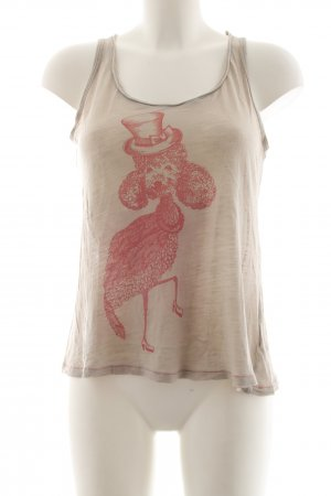 Nice Things Camiseta sin mangas nude-rojo estampado de animales look casual