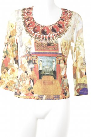 niceconnection Sweatshirt karminrot-dunkelgelb Mustermix extravaganter Stil