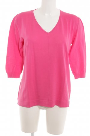 niceconnection V-Ausschnitt-Pullover rosa Casual-Look