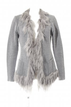 niceconnection Chaqueta de lana gris look casual
