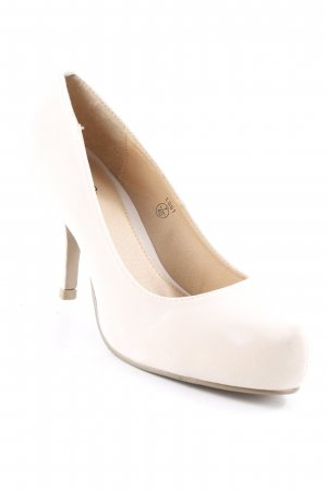 Niche Plateau-Pumps creme Casual-Look