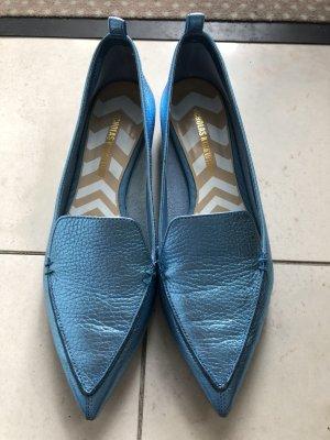 Nicholas Kirkwood Zapatos formales sin cordones azul claro-color oro