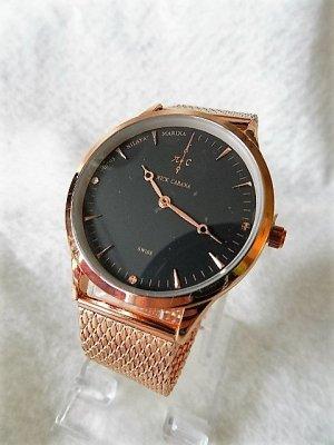 Reloj analógico color rosa dorado acero inoxidable