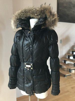 Nickelson warme edle Jacke schwarz mit Echtpelz Kapuze