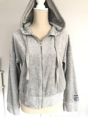 Bershka Giacca con cappuccio grigio Tessuto misto