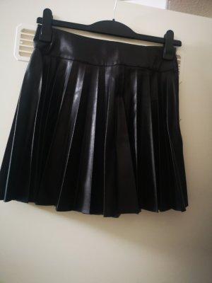 H&M Falda de cuero negro Imitación de cuero