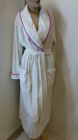 Daniel Hechter Peignoir blanc-rose tissu mixte