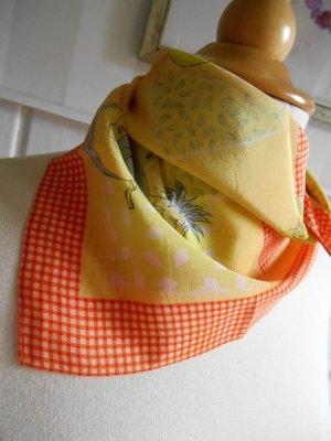 Pañoleta amarillo-naranja claro Seda