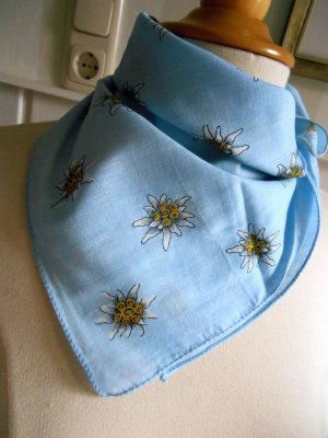 Neckerchief azure-white cotton
