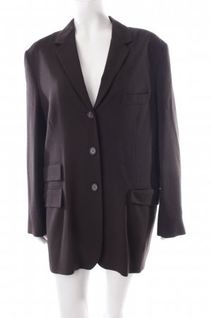 Nicole Farhi Long-Blazer braun Nadelstreifen Business-Look