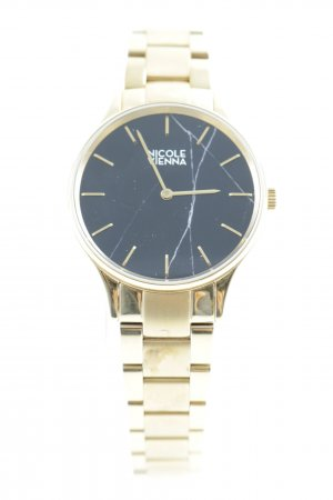 Nicole Vienna Watch With Metal Strap silver-colored-black casual look