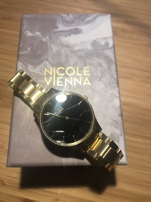 Nicole Vienna Uhr Soir No79 Gold Marmor watch