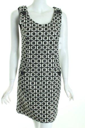 Nicowa A-Linien Kleid schwarz-wollweiß grafisches Muster 60ies-Stil