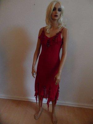 NICOWA Abend Kleid Gr. 38/40 Rot, Seide Luxus Pur!