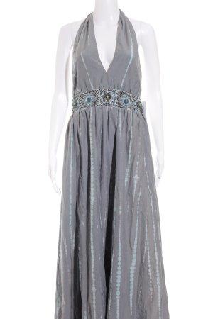 Nicowa Abendkleid grau-hellblau Batikmuster extravaganter Stil