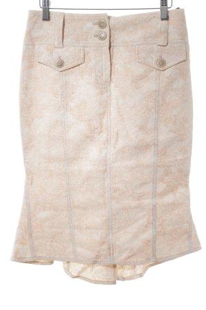 Nicowa Bleistiftrock hellrosa-rosé florales Muster extravaganter Stil